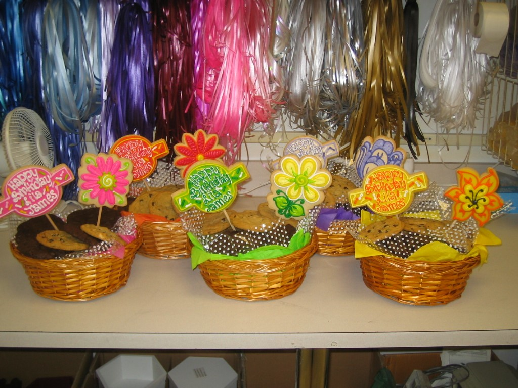 BIRTHDAY FLOWER BASKETS